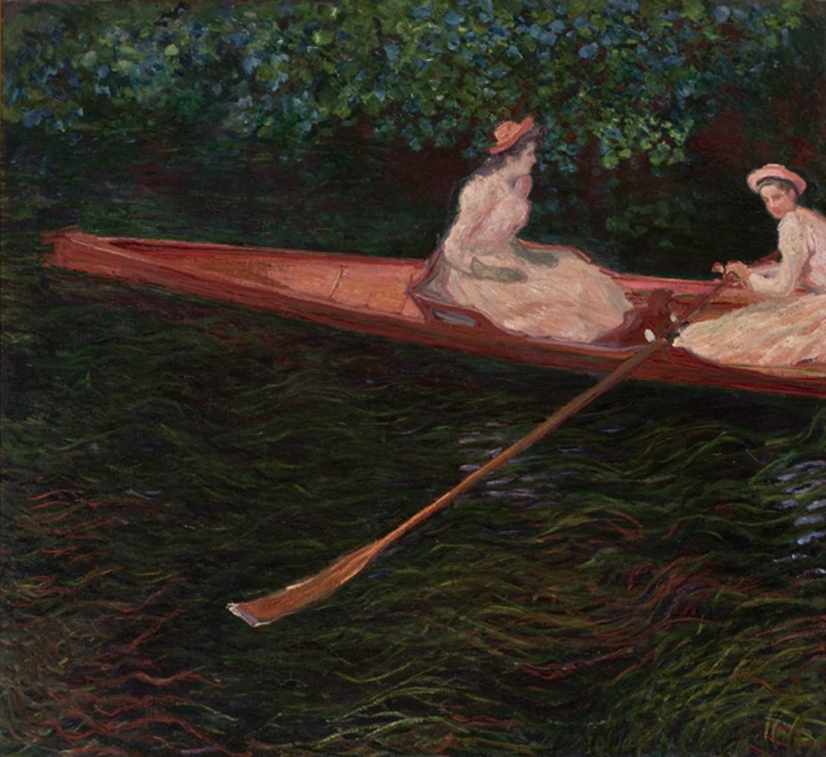 Canoe on the Epte, by Claude Monet: 1890.
