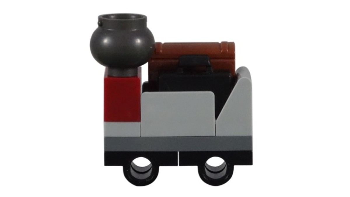 Trolley with Luggage from LEGO Harry's Journey To Hogwarts Polybag 30407