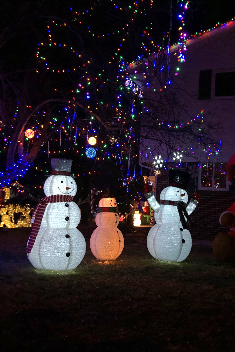 Trio of snowmen at 6496 S Marion Place