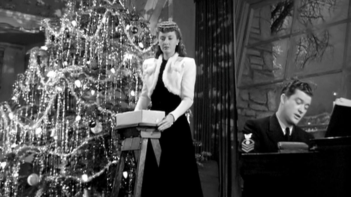 Barbara Stanwyck and Dennis Morgan