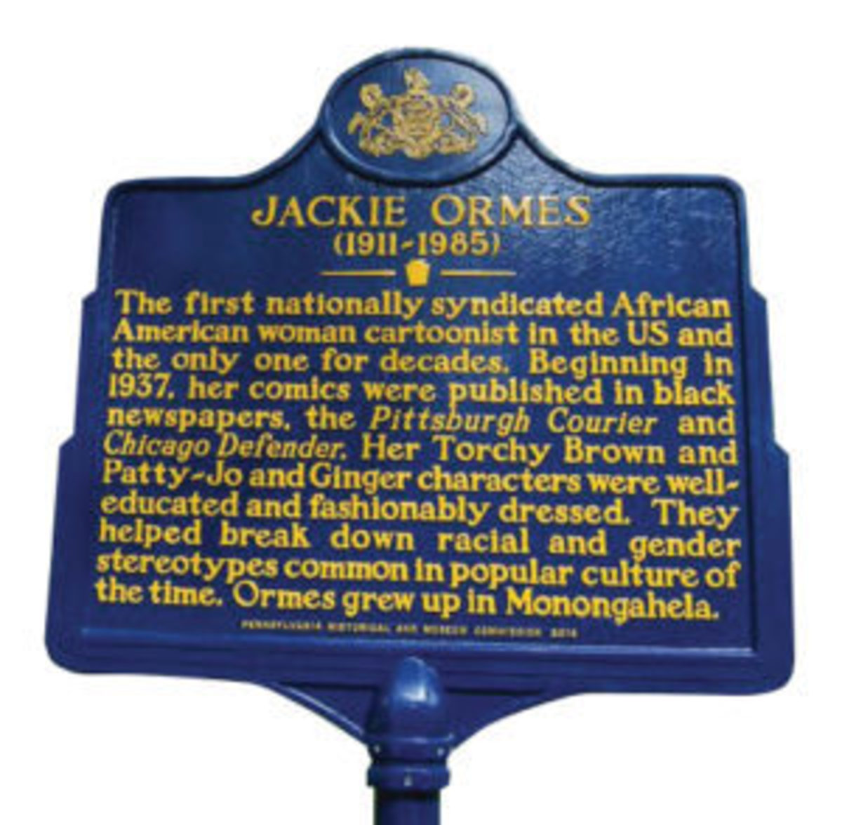 Jackie Ormes Memorial in Pennsylvania