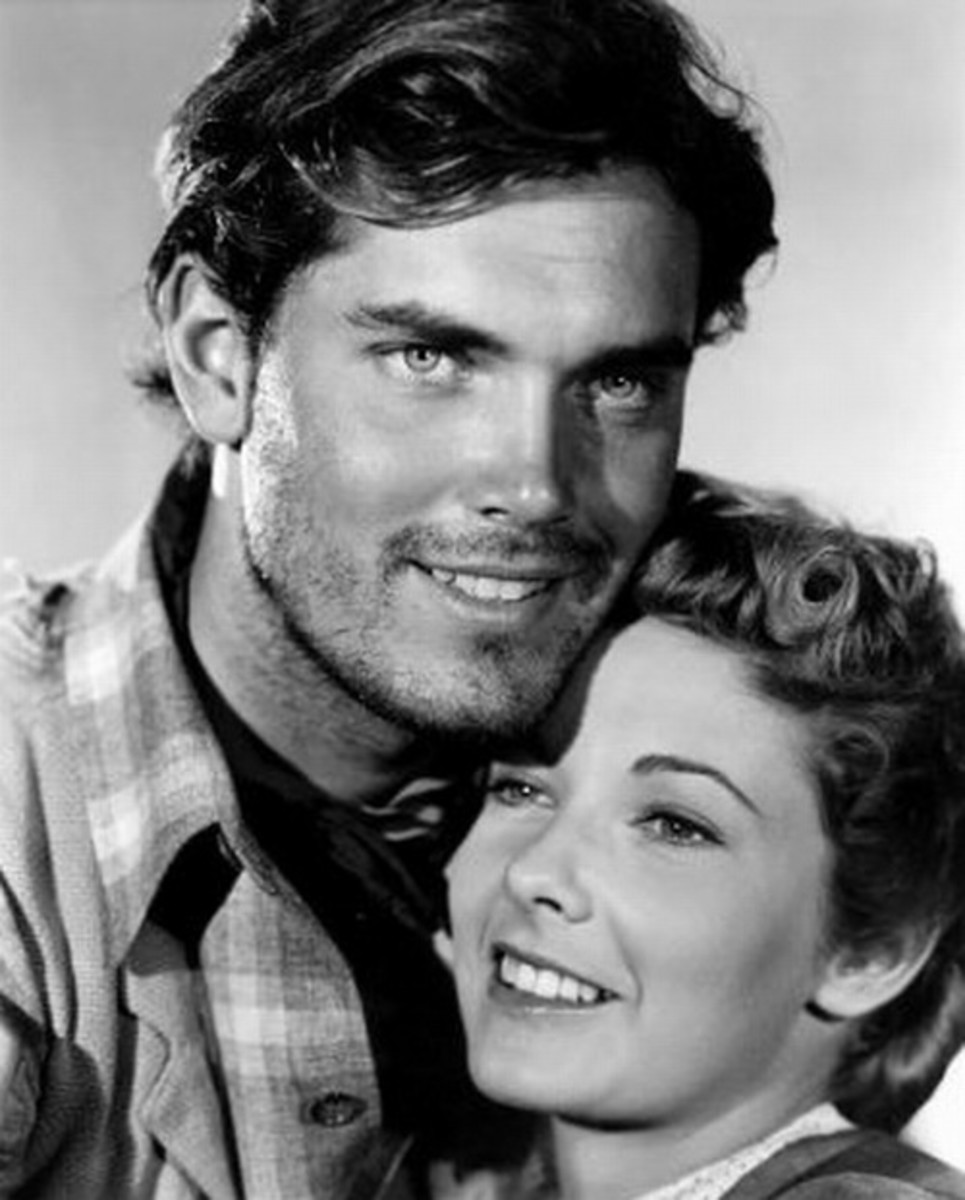 Jeffrey Hunter with Vera Miles
