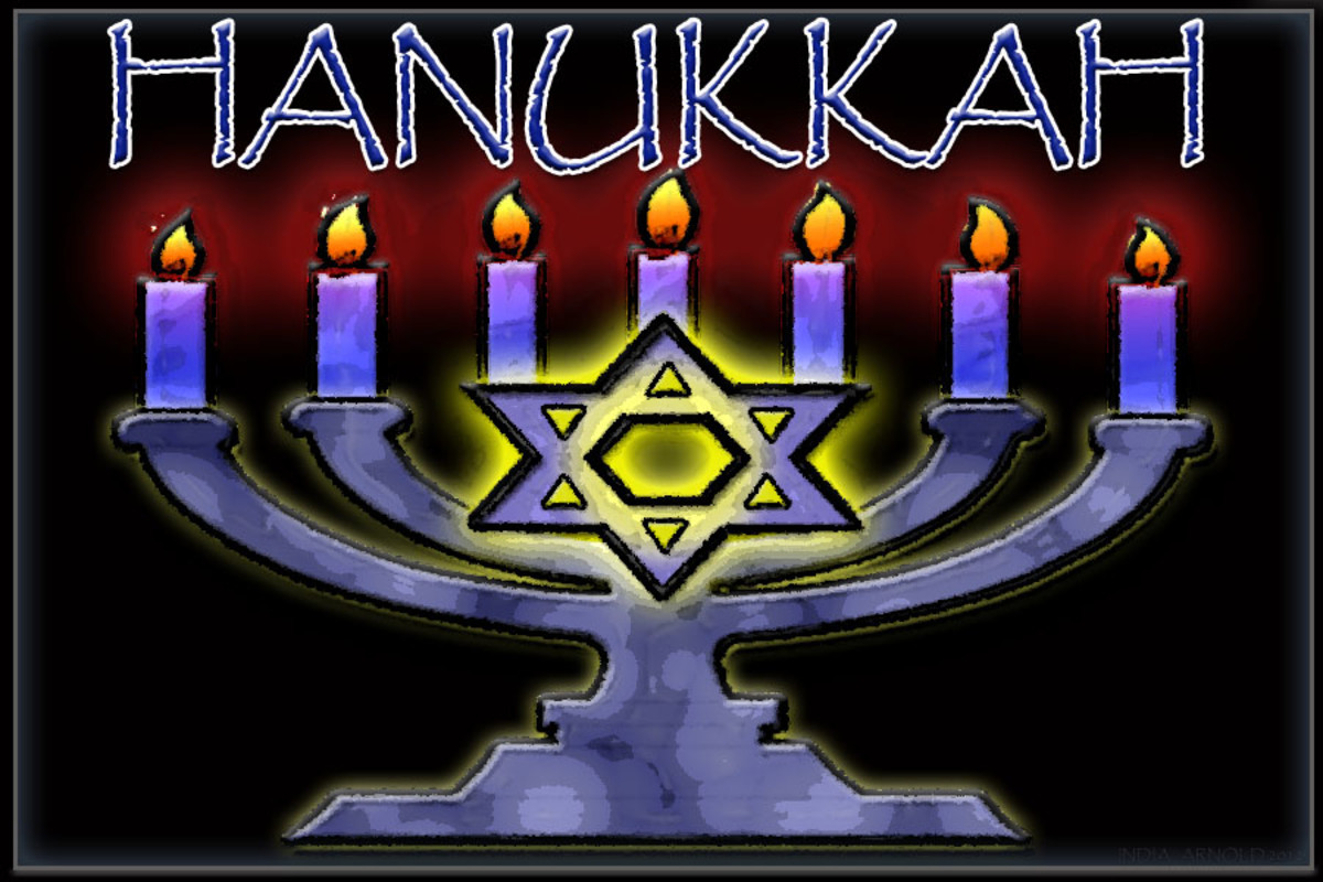 Hanukkah Menorah or Hanukkiyah