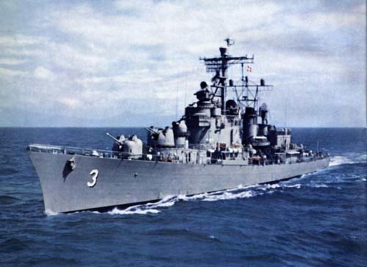 Reclassified in 1951 as a Destroyer Leader, it was the second Mitscher Class Destroyer in the U S Navy.