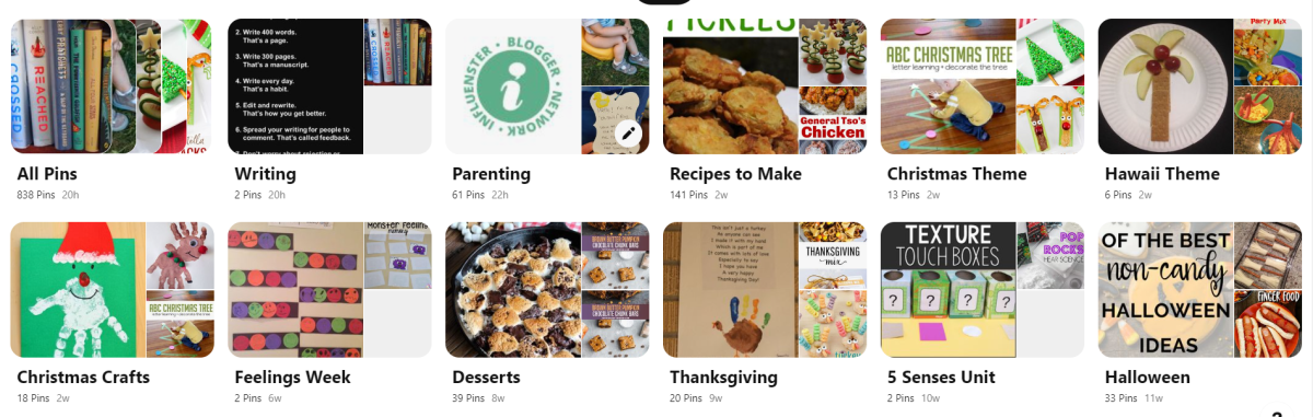 Pinterest is a great place to get ideas and store them for later!