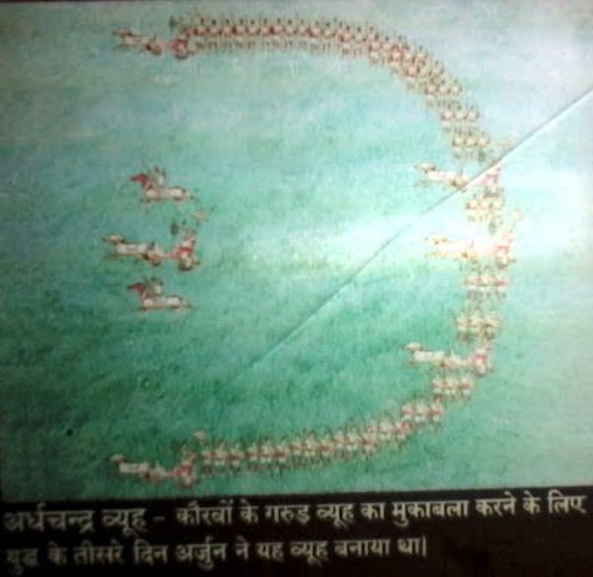 Chandra Vyuh (Cresent of Moon-like military formation ) of Pandav army
