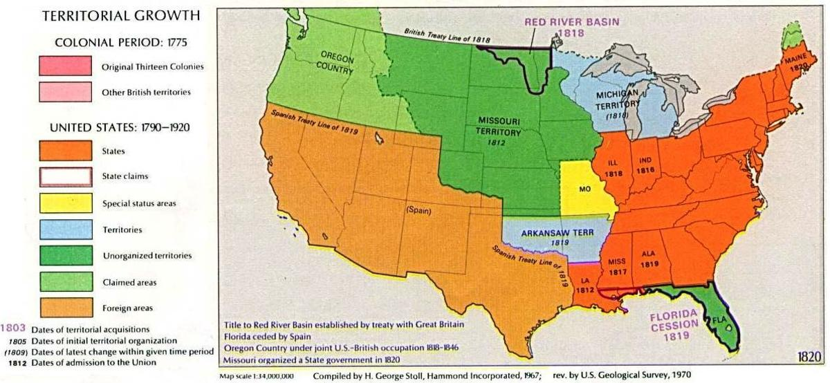 Map of the Missouri Compromise
