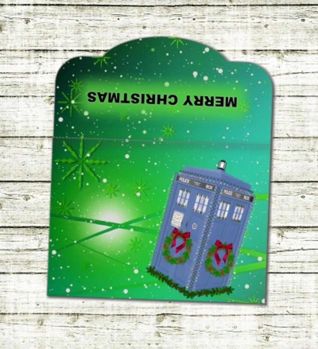 Printable Dr Who tardis Christmas money wallet