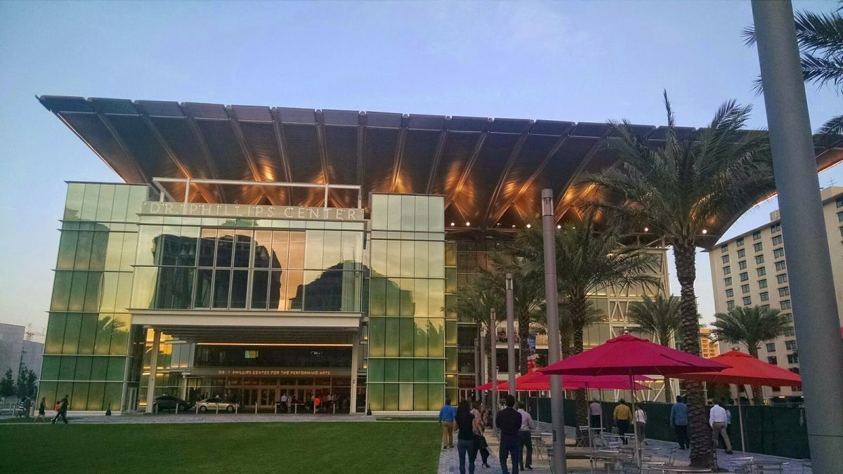The Dr. Phillips Center is a performance art complex featuring two large theaters and a number of smaller venues.