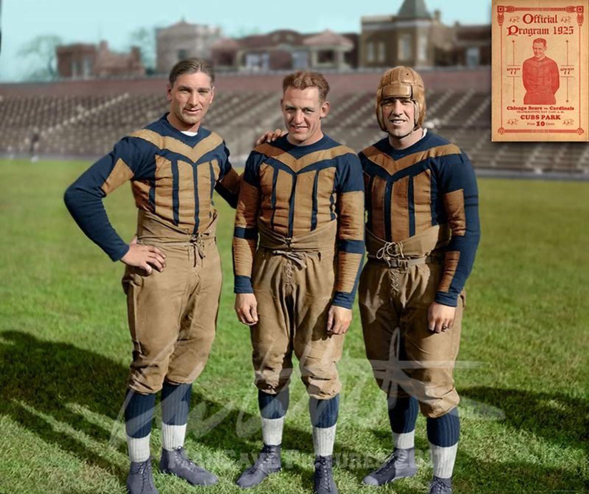 Frank Hanny, Red Grange,  Jim McMillen, Chicago Bears