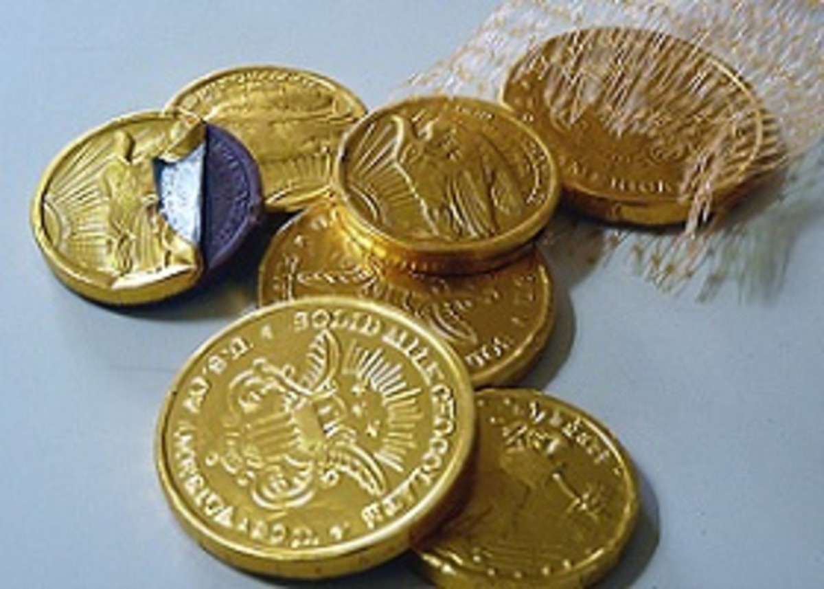 Chocolate Gold Coins by OC Always