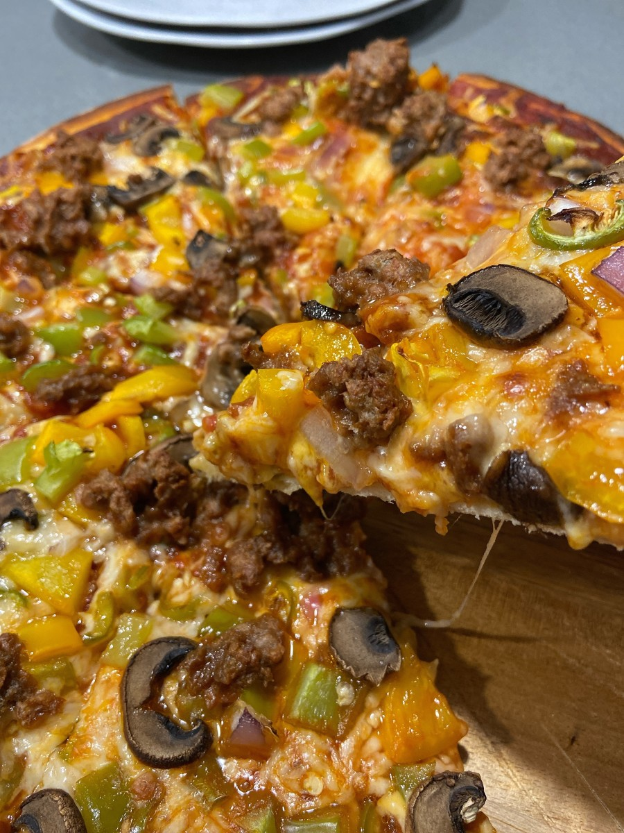 Homemade pizza is the best! I hope you will try it and like it as much as we do.
