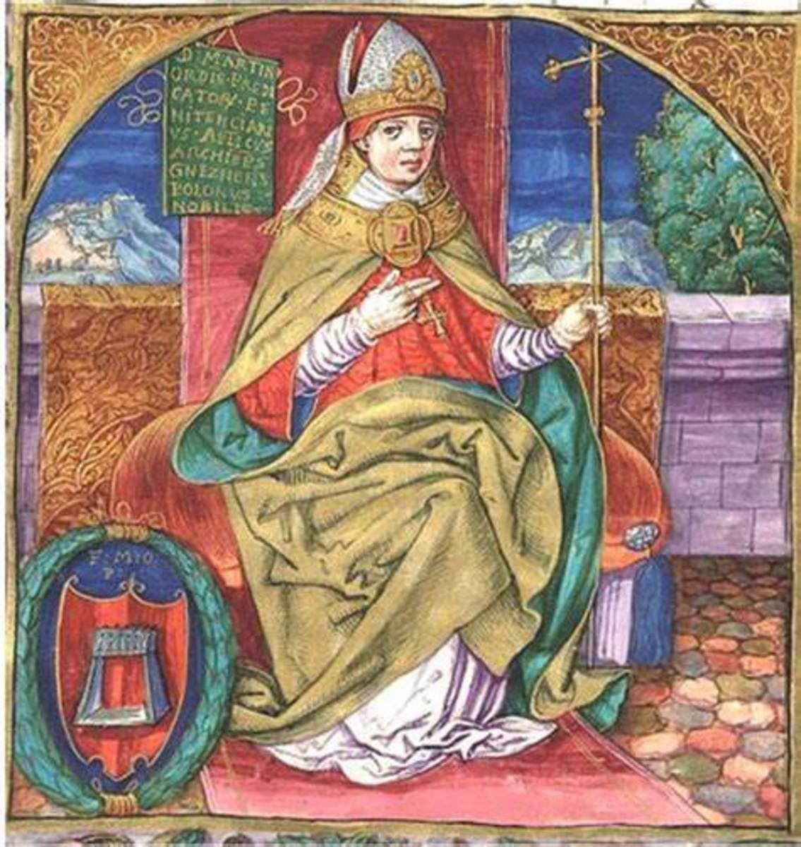 Pictured above is an artist's portrayal of Pope Joan.
