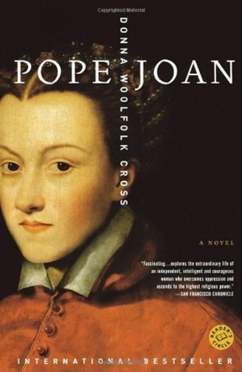 Pictured here is the cover of a novel that was written about Pope Joan.