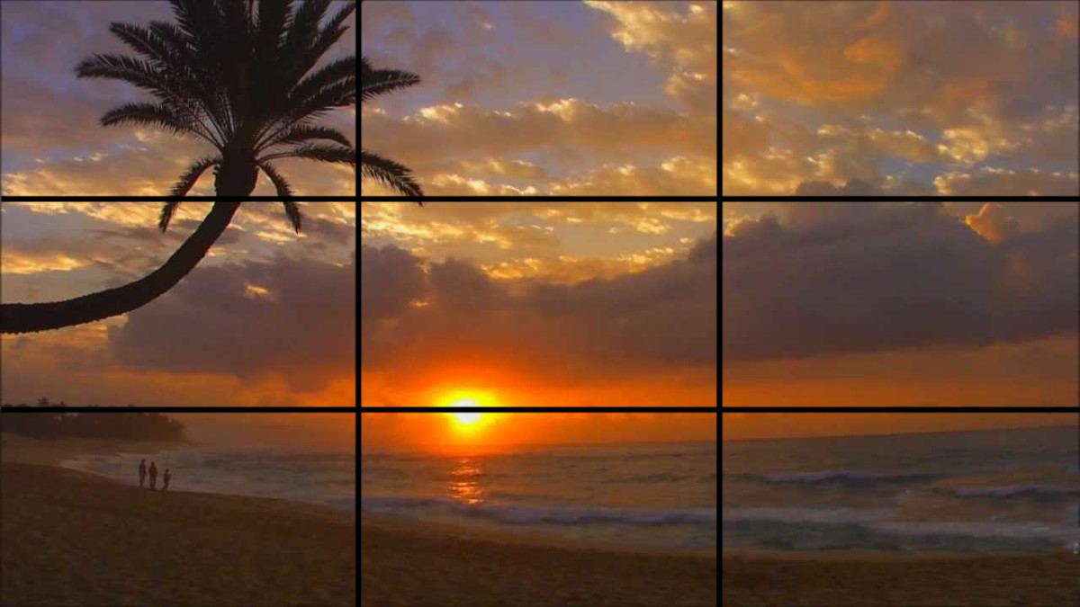 Sky occupies more than 2/3rd of the surface as per the Rule of Thirds
