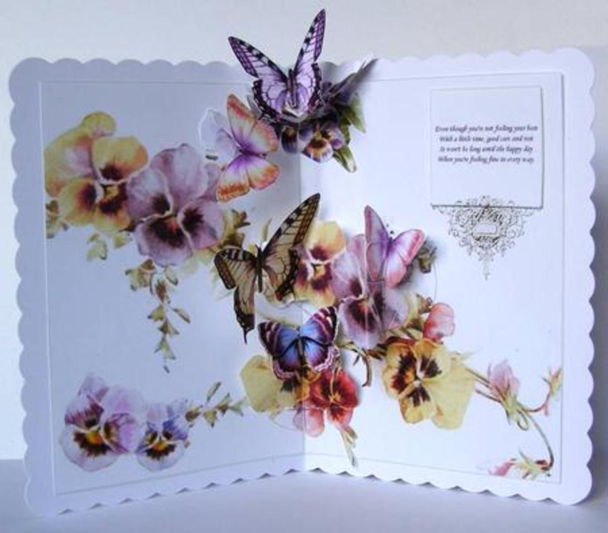 pansies and butterflies