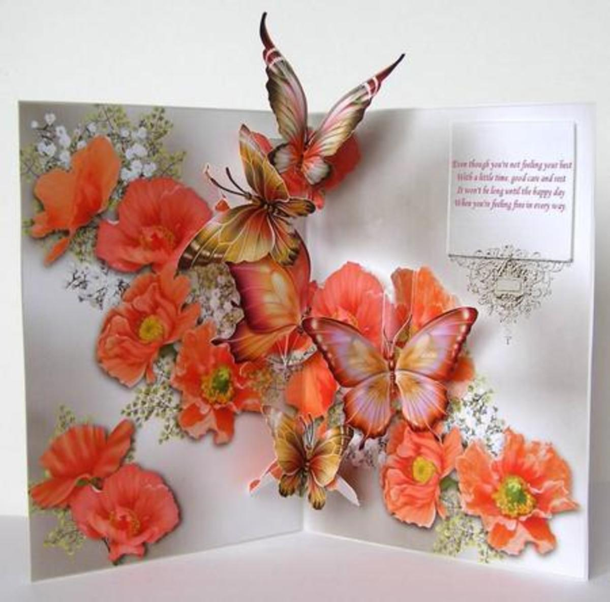 apricot pansies and butterflies