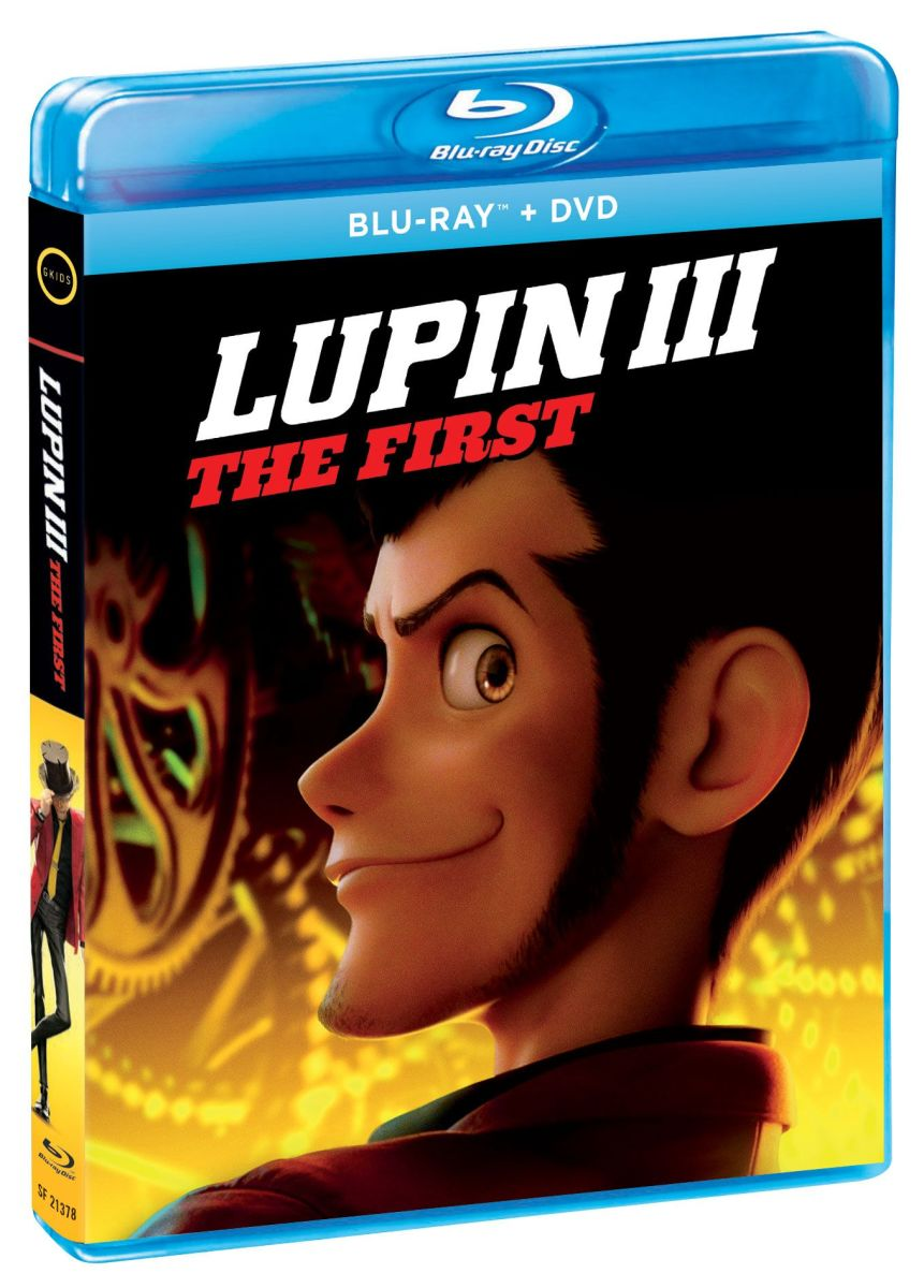 "The official DVD/Blu-ray cover for, ""Lupin III: The First."""
