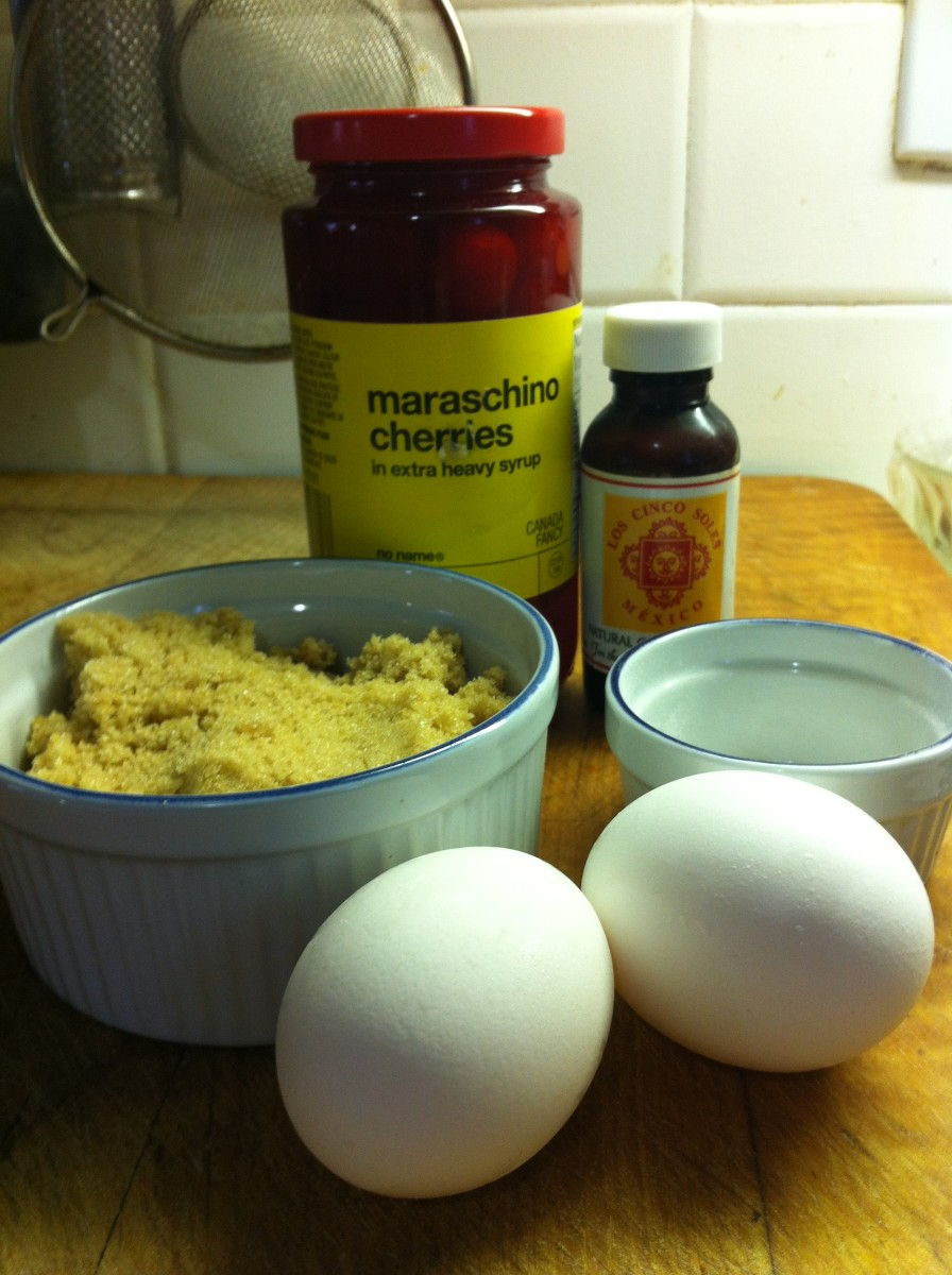 Ingredients for the batter mix that goes on top of the base.