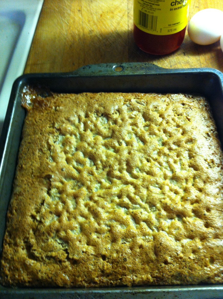 Butter tart squares are cooked and should be cooled completely before cutting