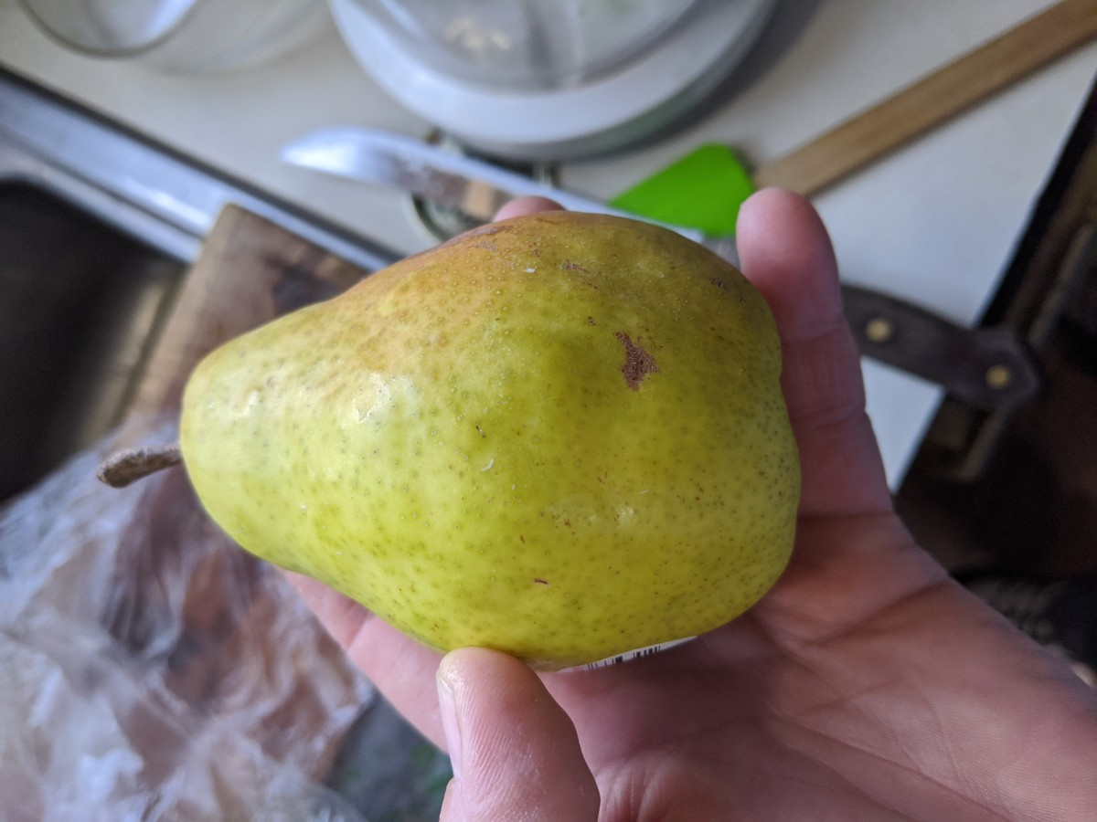 pear, peel