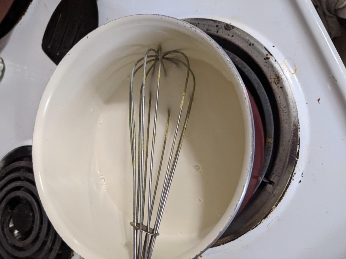 stirring constantly, medium heat