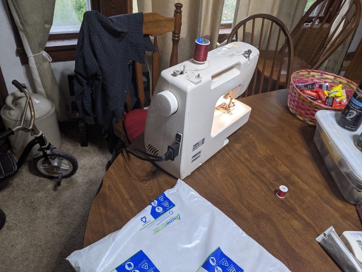 get out sewing machine