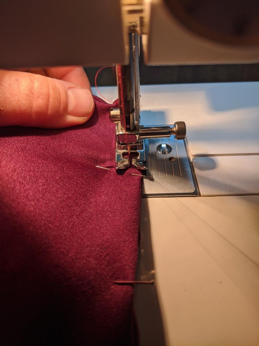 Top stitch ends shut