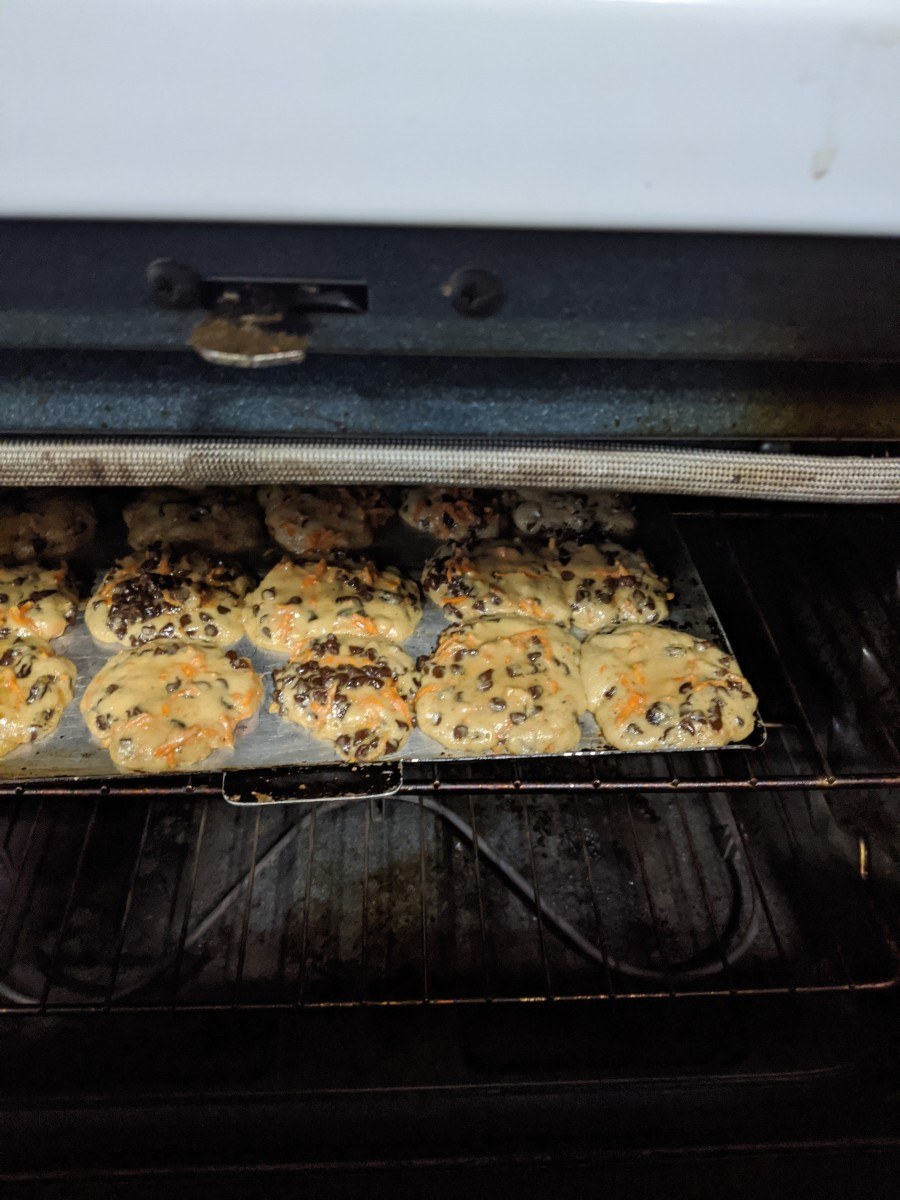 Bake 400 degrees for 14 minutes, until cookies look dry