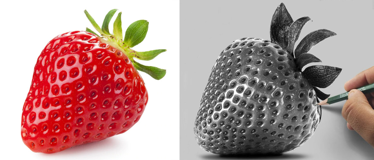 Try to draw strawberry using your visual memory