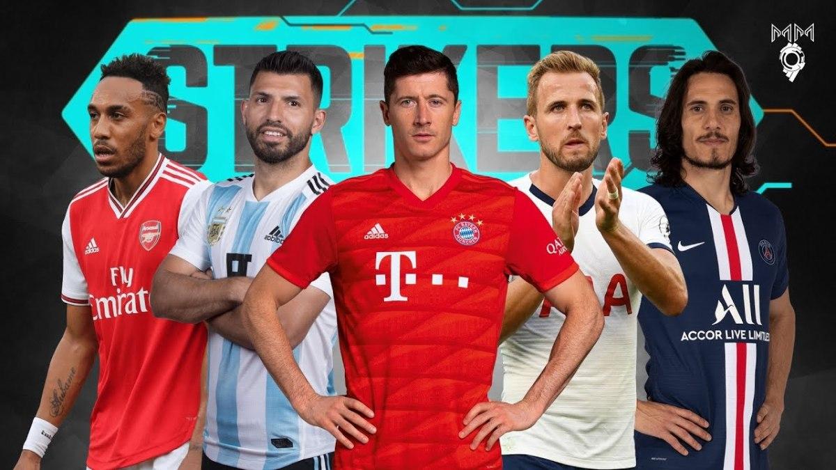 Strikers of world football (from left to right), Pierre-Emerick Aubameyang, Sergio Aguero, Robert Lewandowski, Harry Kane and Edinson Cavani.