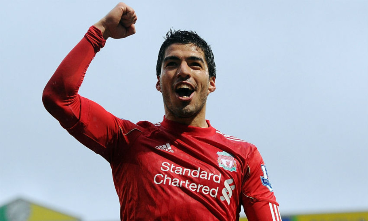 Luis Suarez during his time with Liverpool Fc