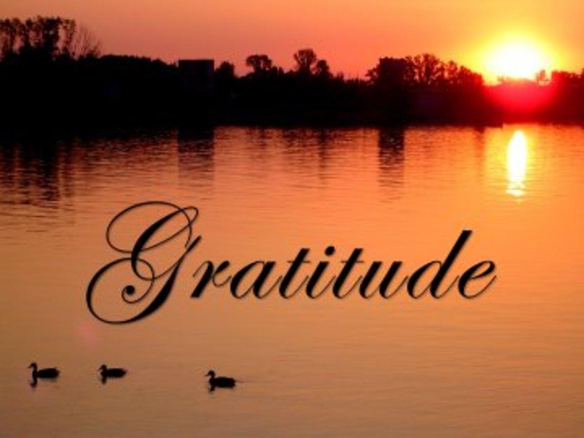 Develop the attitude of gratitude