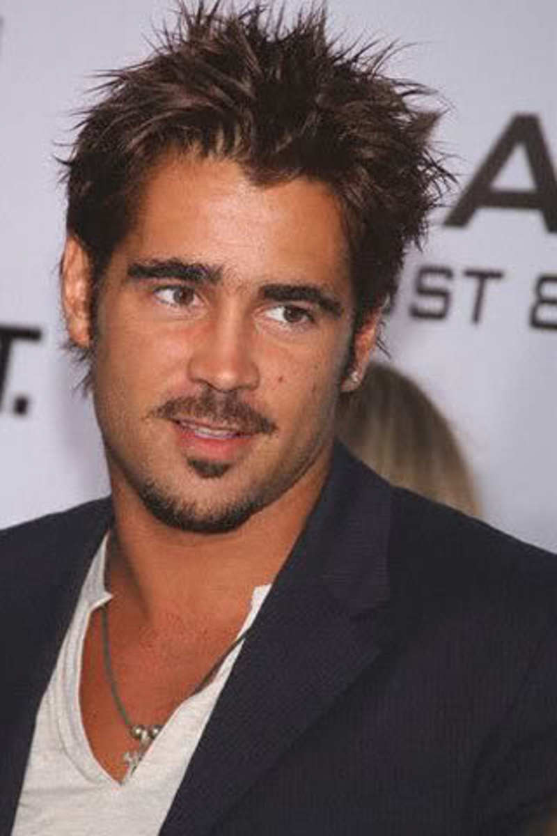Colin Farrel hairstyle.