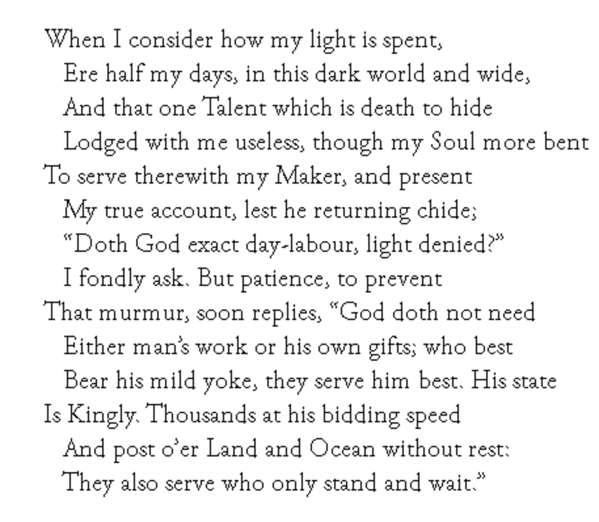 Sonnet 19 by Milton