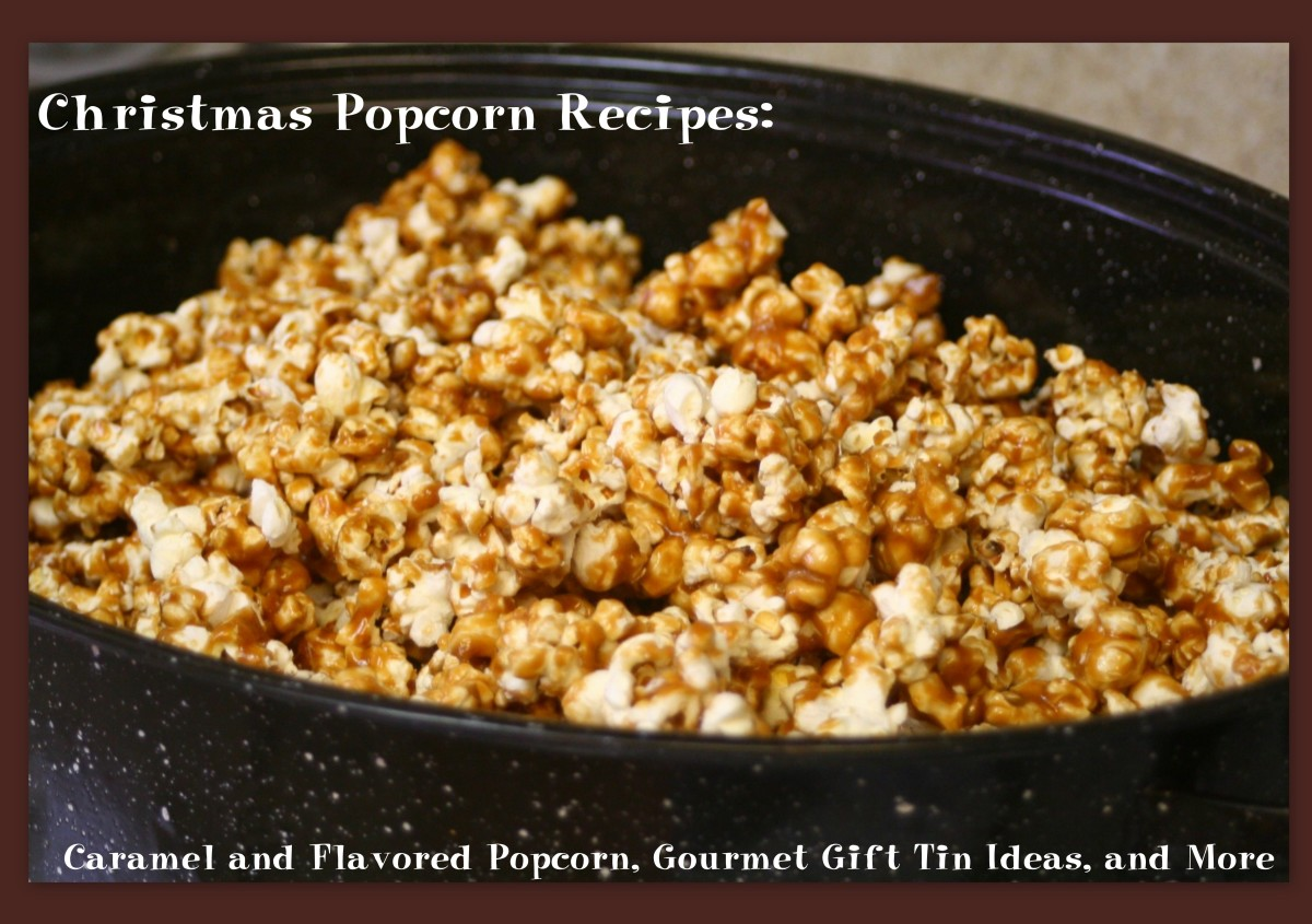Christmas Popcorn Recipes: Caramel and Flavored Popcorn, Gourmet Gift Tin Ideas, and More