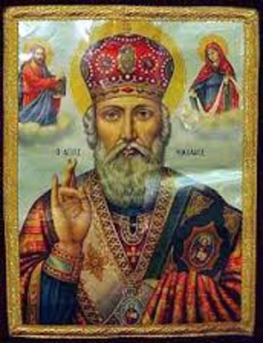 A Saint behind the story Of Santa Claus.