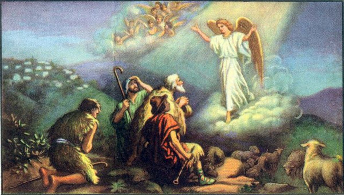 Angels proclaimed the joyous event of the Birth to shepherds abiding in the fields