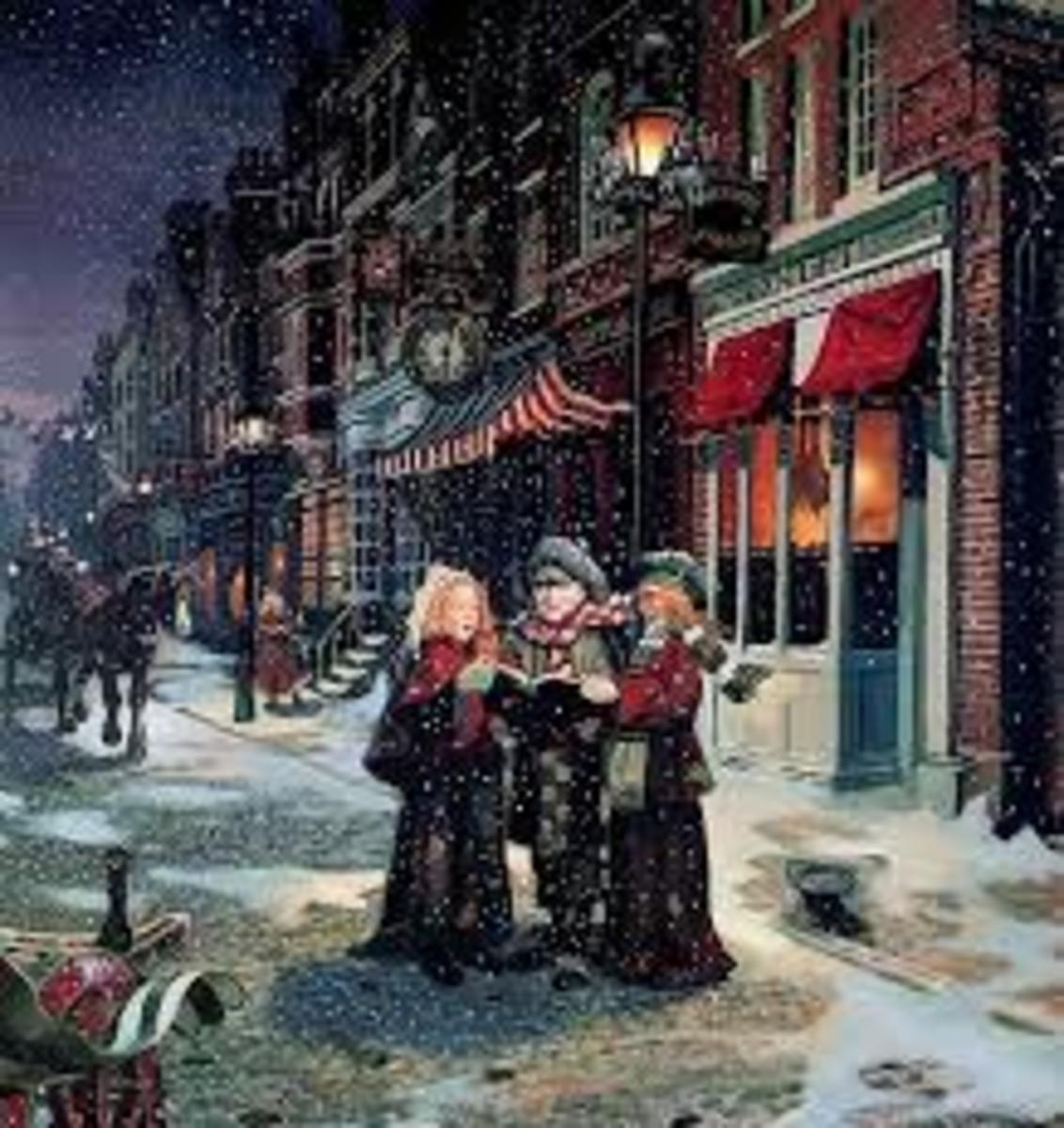 People will sing Christmas Carols out in the streets to help raise money for charities.