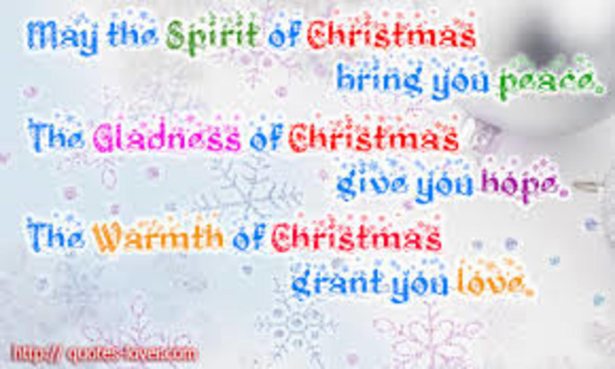 The True Spirit Of Christmas And The Birth Of Jesus Christ