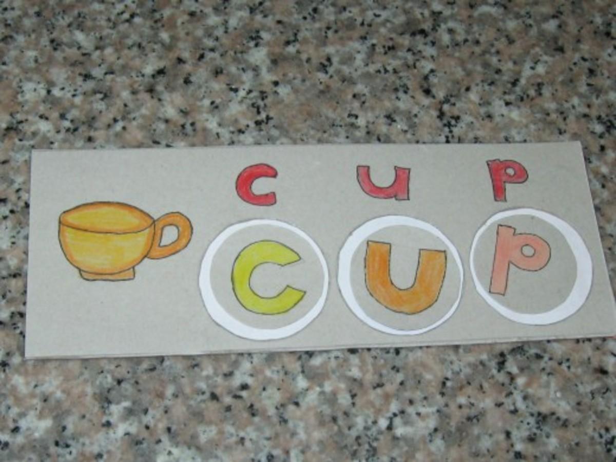 Kids Craft : English Spelling Cardboard
