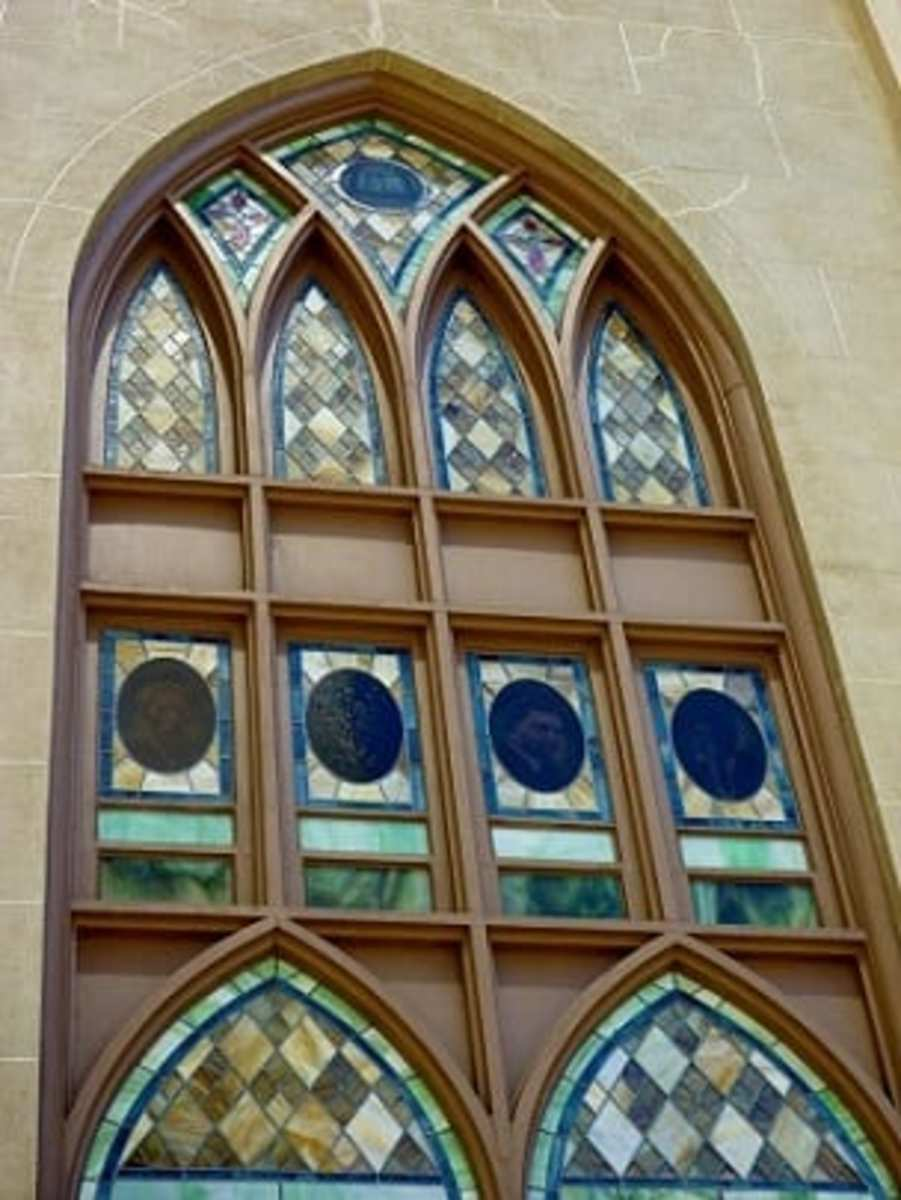 Pretty stained glass windows