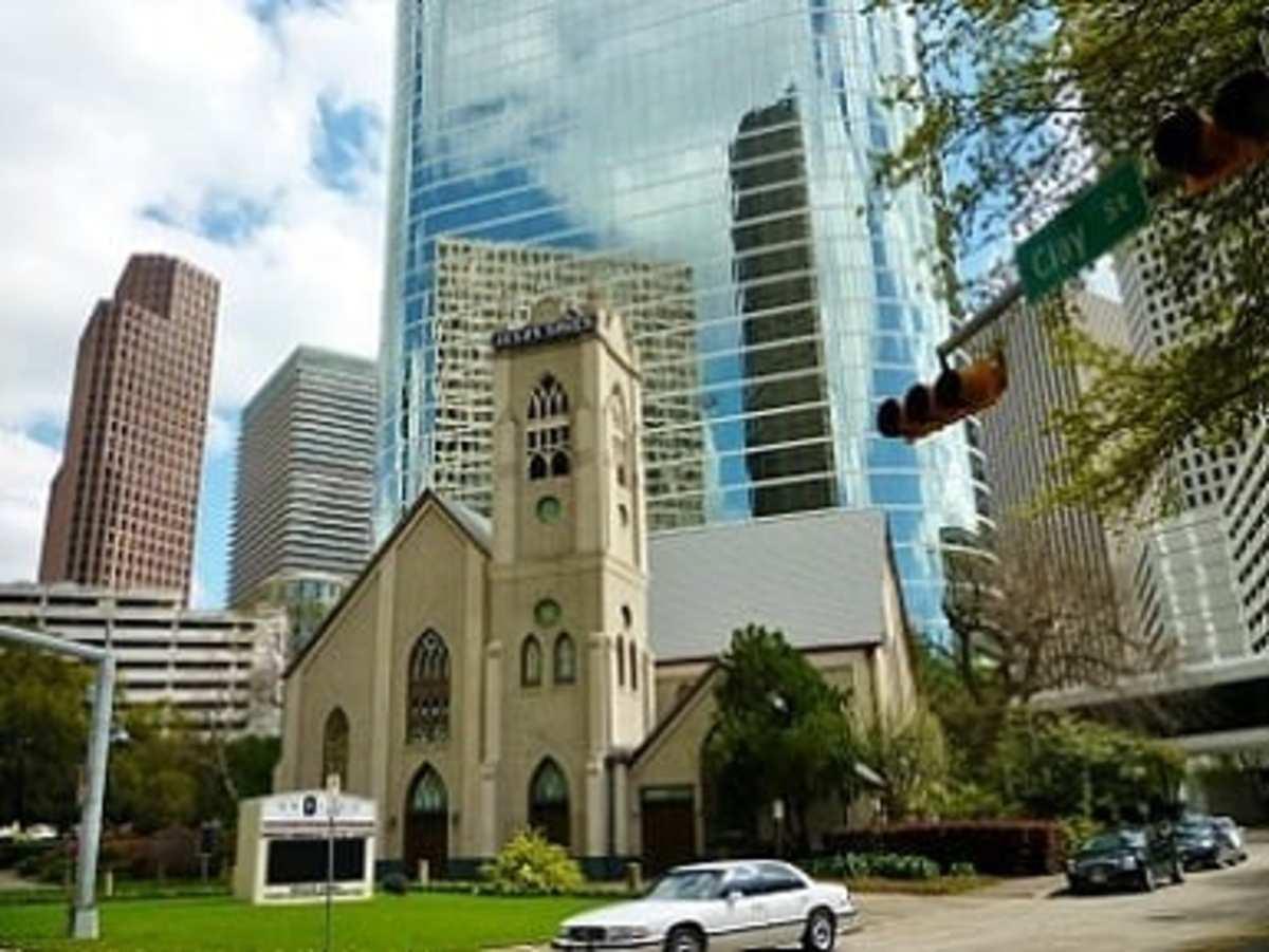 Church in downtown Houston, Texas