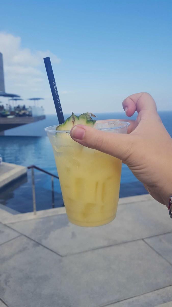 "An ""Uluwatu Colada"" is pineapple juice and tequila!! Yum!!"