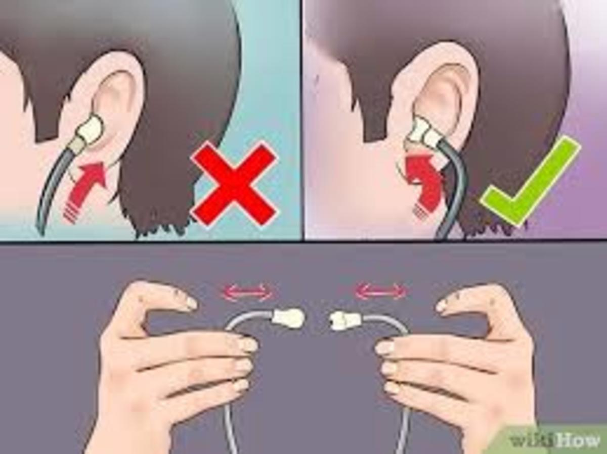 Place the ear tips into the ear canal