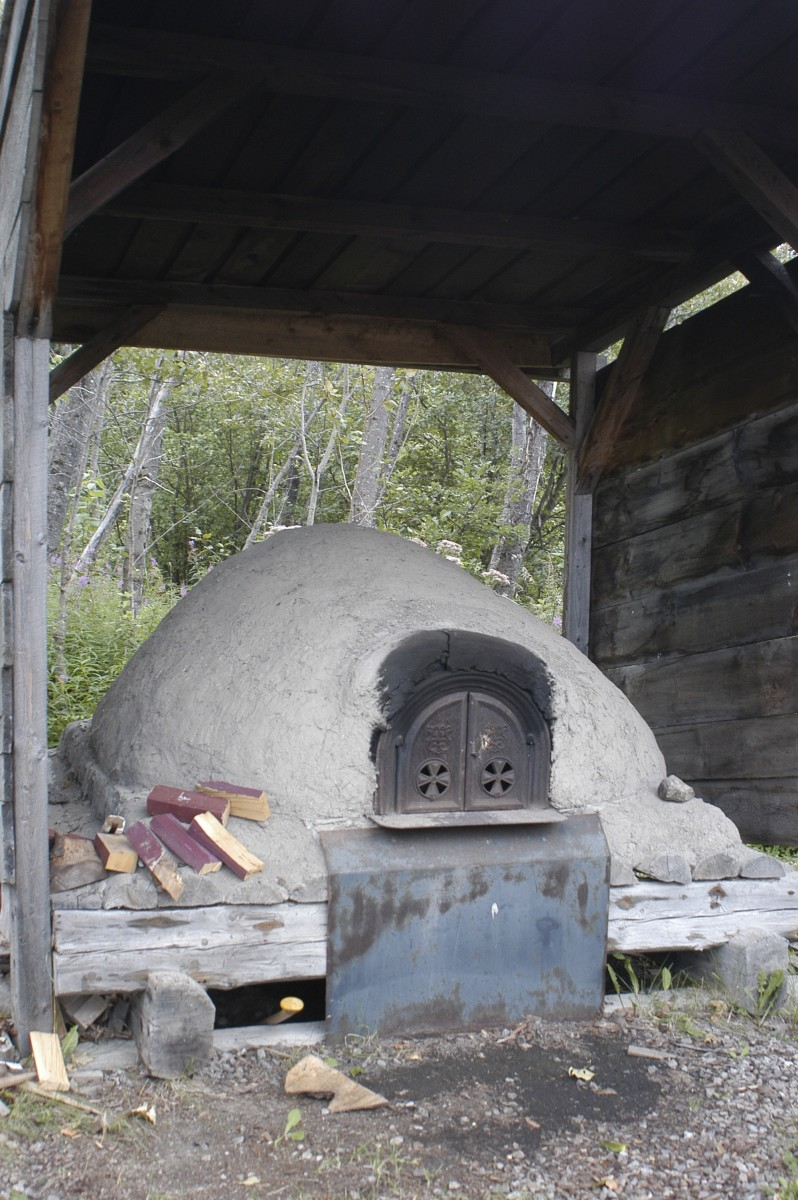 Flour ground in the mill is baked in wood-fired ovens on the property.