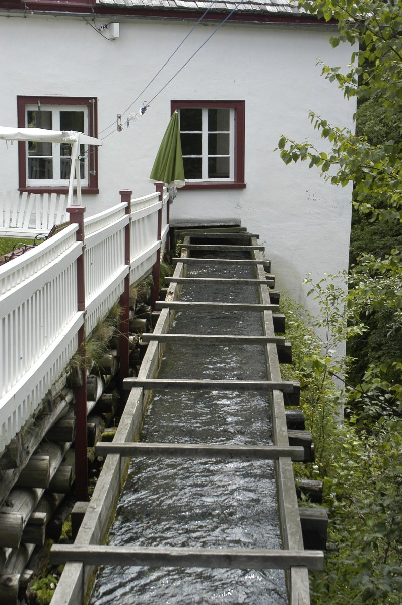 The sluice at the Banal Mill in Les Eboulements.