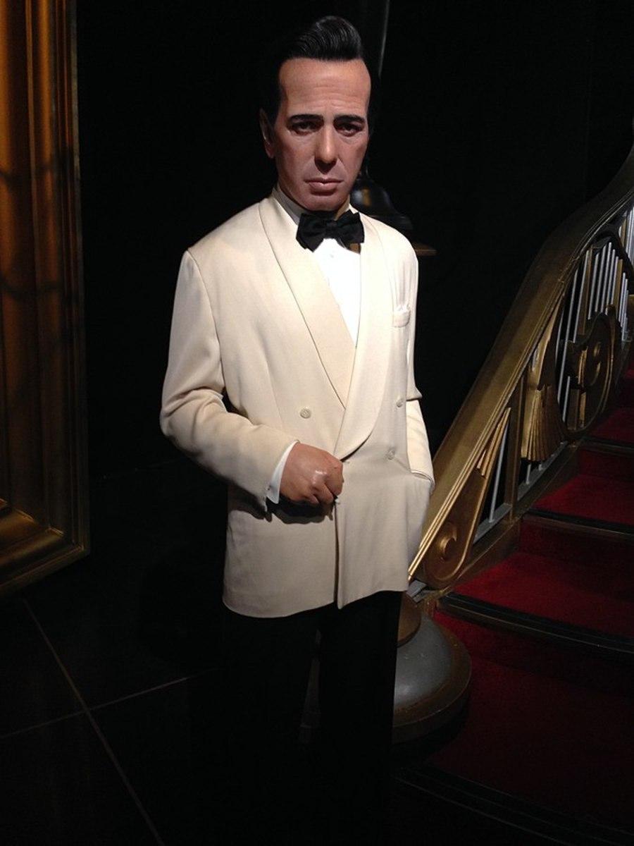 Wax model of Humphrey Bogart at Madame Tussauds, London.