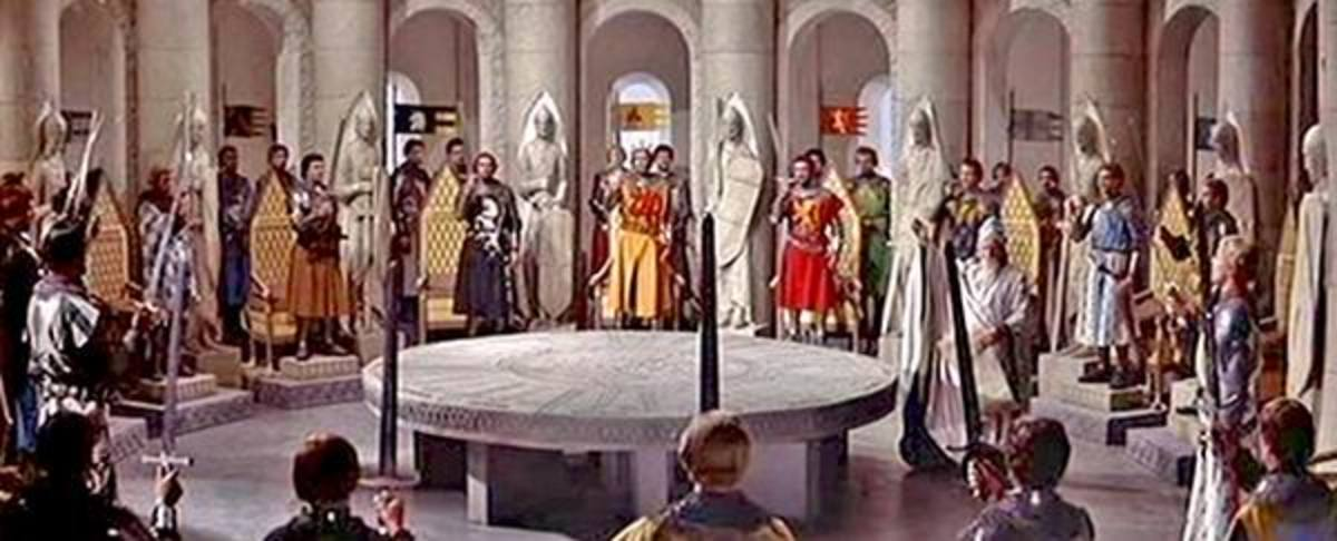 King arthur and the knights of the round table on the screen for 12 rules of the knights of the round table