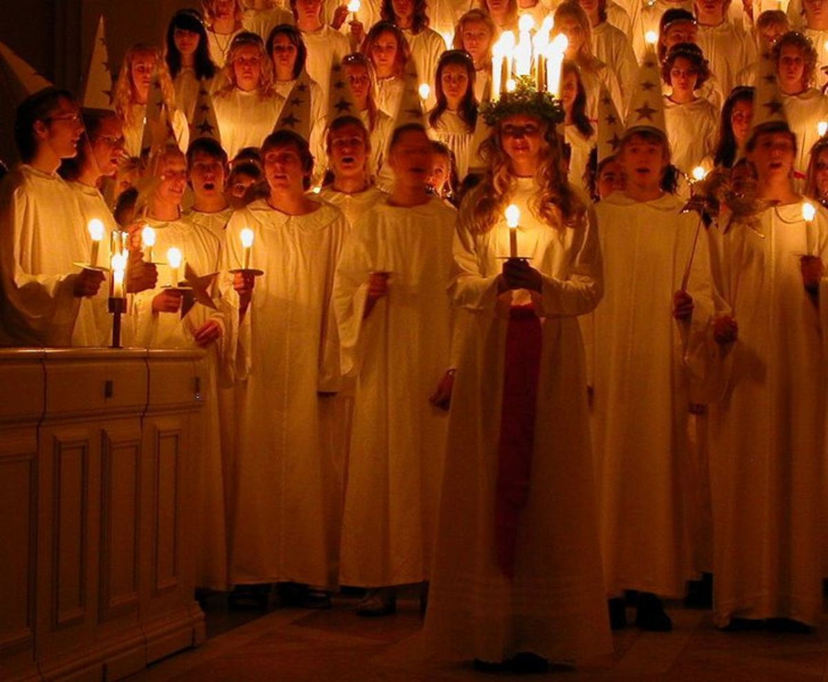 Lucia in a Swedish cathedral